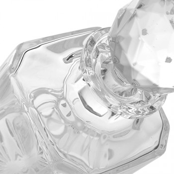 Skleněná karafa na whiskey Bohemia Crystal Elena