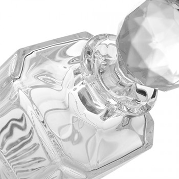 Skleněná karafa na whiskey Bohemia Crystal Viola