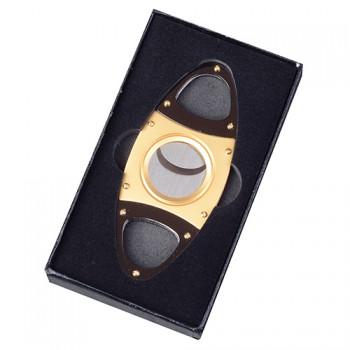 Doutníkový ořezávač elipsa zlatý černý